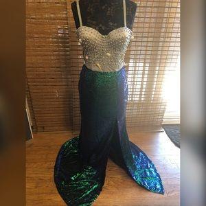 Handmade beautiful mermaid costume